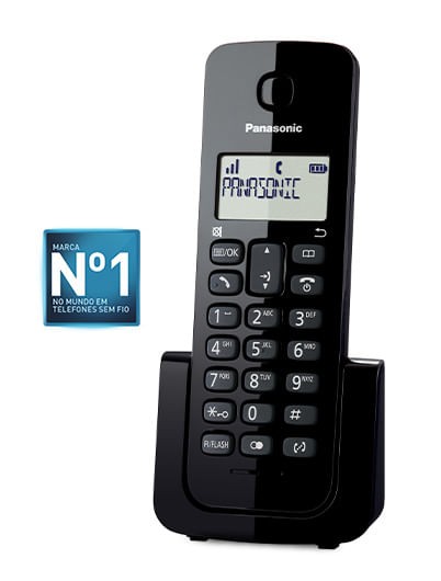 Telefone Sem Fio Panasonic Combo (2 Telefones) Preto KX-TGB112LBB
